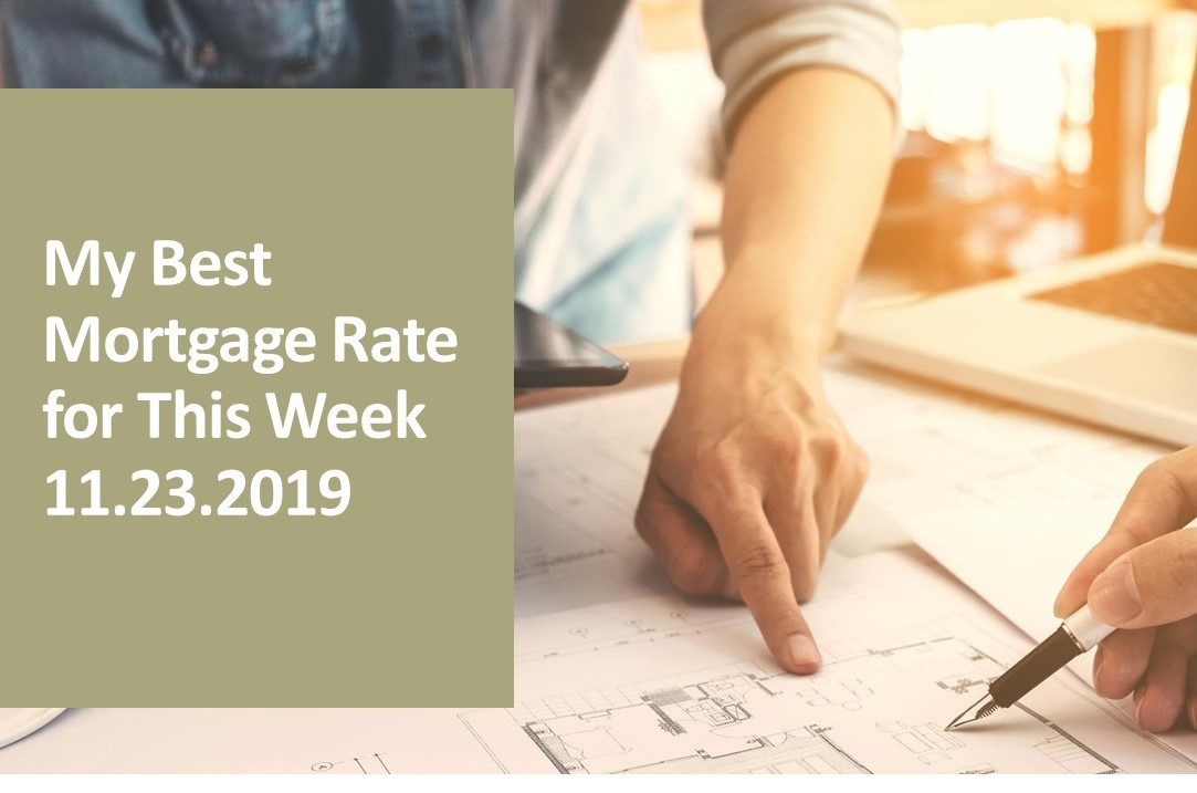 My best mortgage rates on Nov 23, 2019