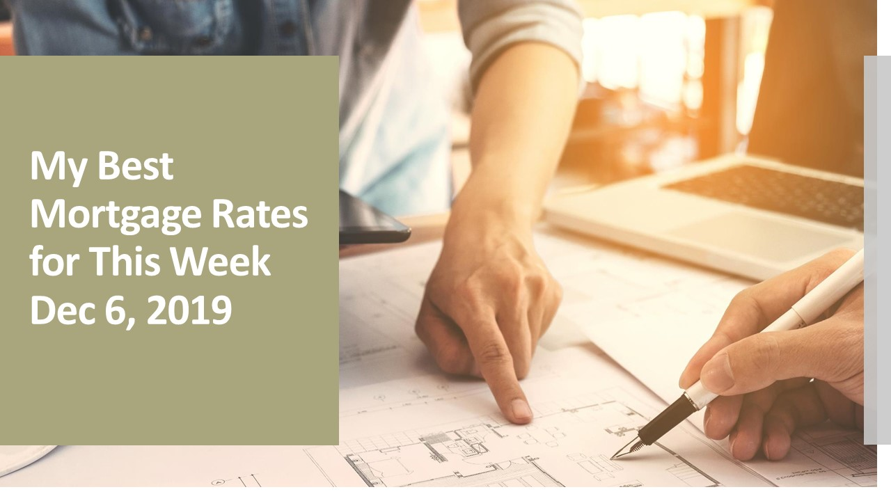 My Weekly Best Rates as of Dec 6, 2019