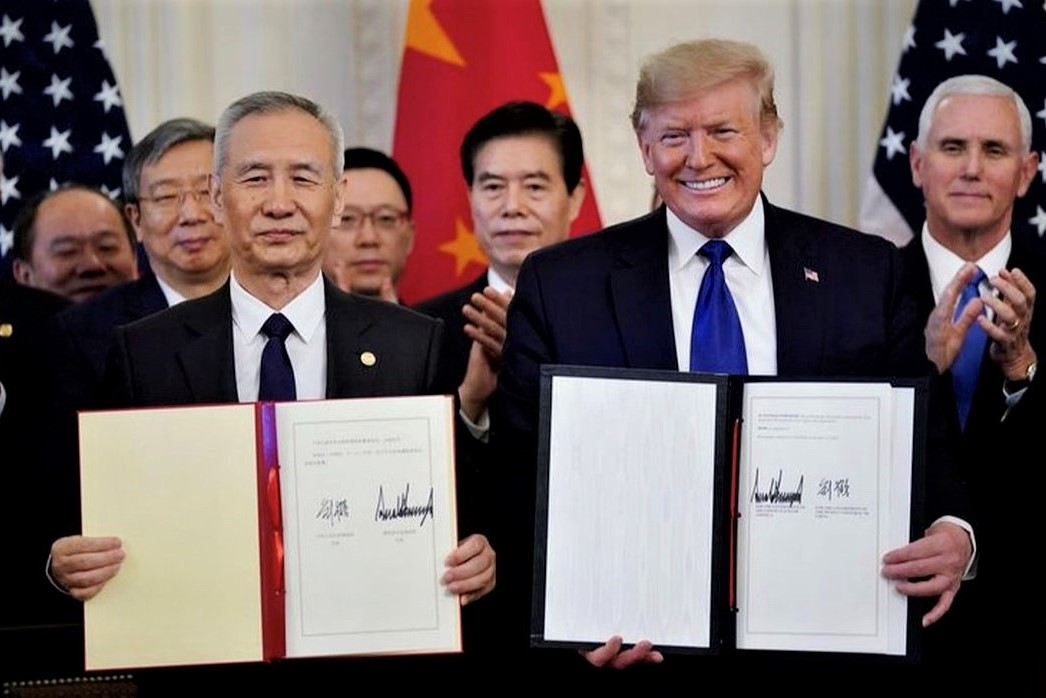 U.S., China sign deal, easing trade war that hurt global growth