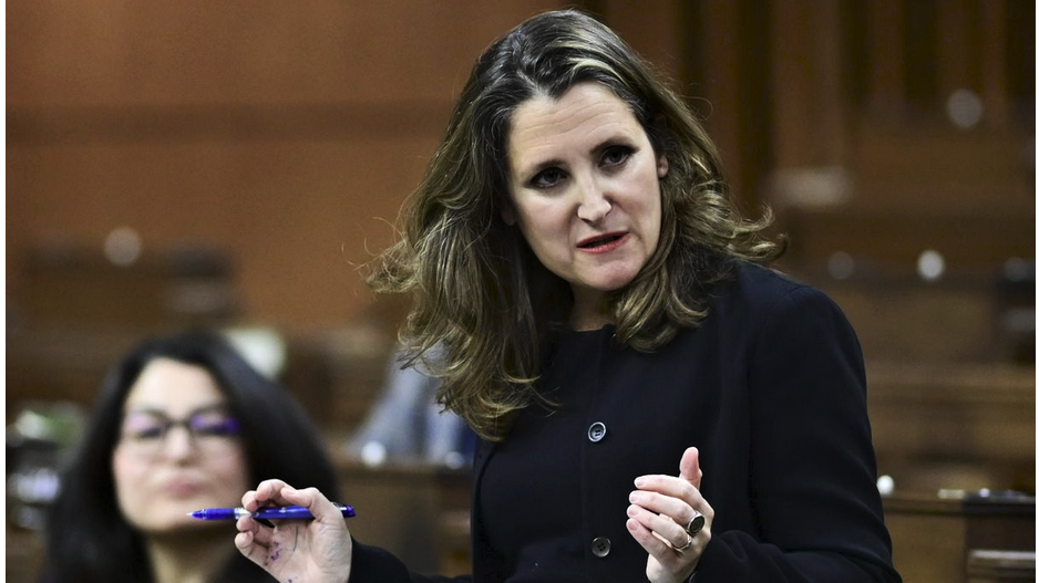 Freeland launches consultations on 2021 budget