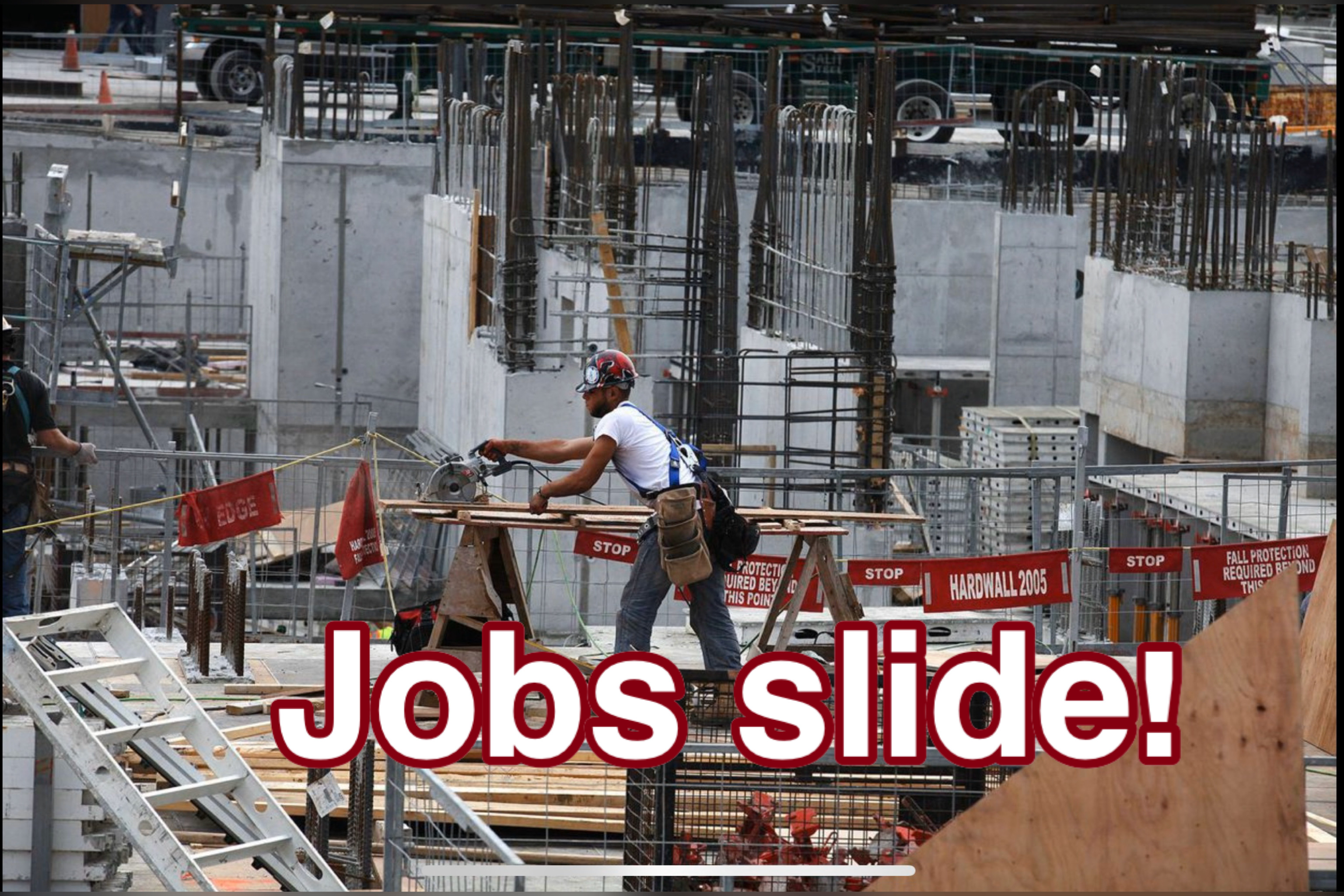 Jobs slide increases worries of economic slowdown