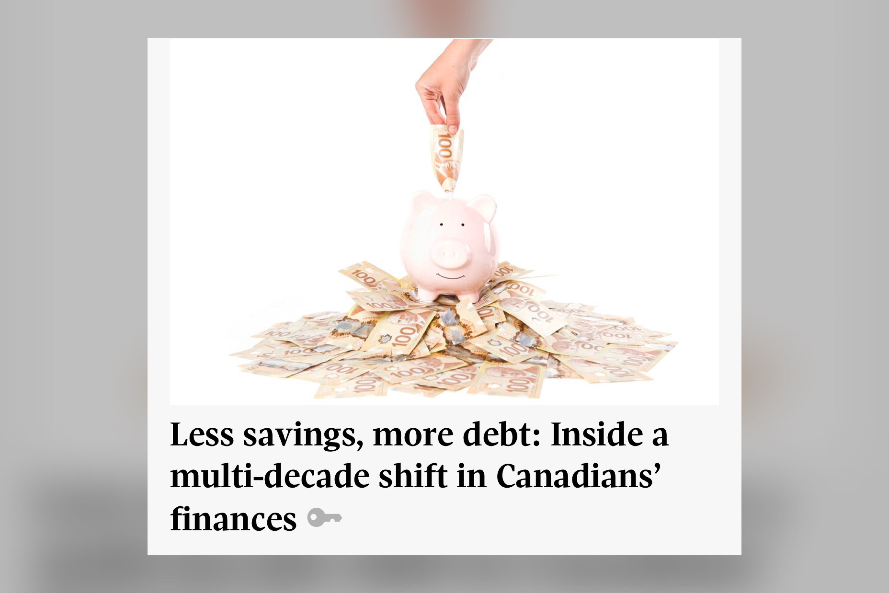 Less savings, more debt: Inside a multi-decade shift in Canadians' finances