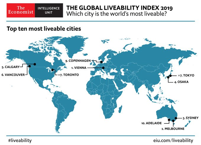 Toronto Still Ranks As One Of The World's Most Liveable Cities In 2019